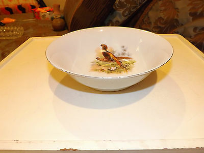 Vintage PK Unity Germany Bowl with Pheasant Print 8 3/8 Inches