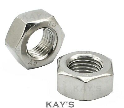 Unc Hexagon Imperial Nuts A2 Stainless Steel 8, 10, 1/4, 5/16, 3/8, 7/16, 1/2""