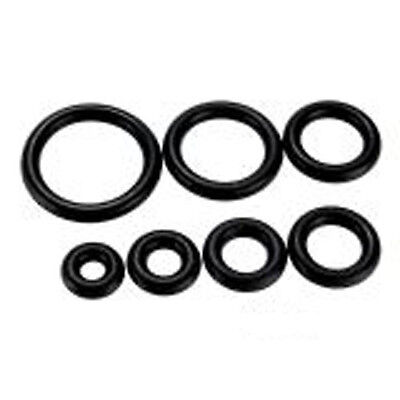 Pack of 10 (5 pairs)Replacement Black Silicone O-Rings 14G - 3/4.  U Choose Size