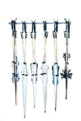 6 Cross country ski Wall-Mounted Garage storage system ski rack by monkey bars