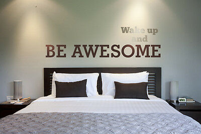 Wall Decal Words Wake Up Be Awesome Words Lettering Inspiration Quote Phrase