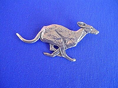 Smooth Saluki Pin RUNNING #15F Pewter SightHound Dog Jewelry by Cindy A. Conter