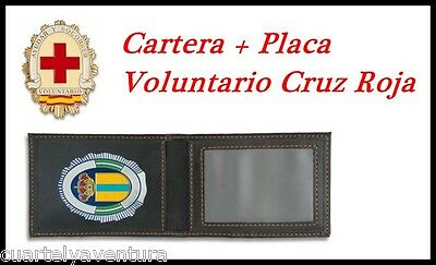 CARTERA + PLACA VOLUNTARIO CRUZ ROJA