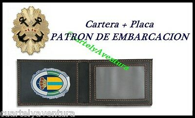 CARTERA + PLACA  PATRON EMBARCACION