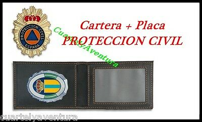 CARTERA + PLACA  PROTECCION CIVIL