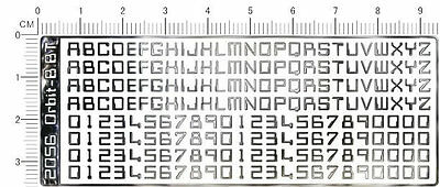 chrome(metal) decals  Number letter 2056