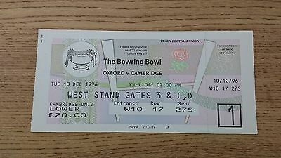 Oxford v Cambridge 1996 Used Rugby Ticket