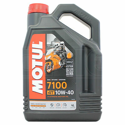 Motul 7100 4T 10W-40 Motorcycle Engine Oil Fully Synthetic 10W40 4 Litres 4L