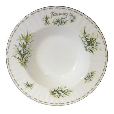 Royal Albert Flower of the Month January Rim Soup