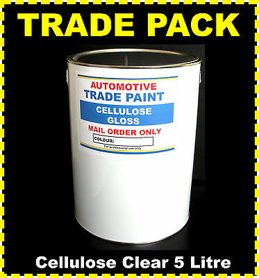 CAR PAINT CELLULOSE CLEAR LACQUER HIGH GLOSS  5lt size