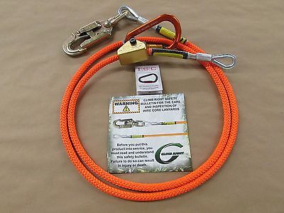 Arborist Climbing Climbright 1/2 X 10Ft Steel Core Flip Line Kit Carabiner 75222