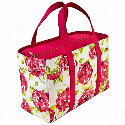 Ragged Rose Ladies Canvas Holdall Beach Bag in Floral Roses