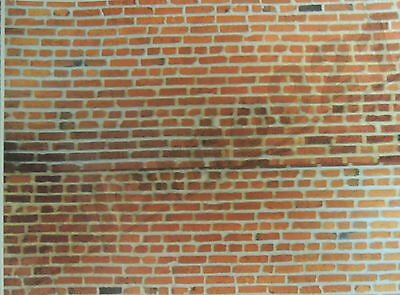 SET #10 OF TWO (2)  BRICK WALLS DECALS 1:18- 1:24 Scale Diorama NEW!