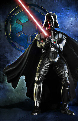 Star Wars Darth Vader Original Art Print signed by artist Scott Harben
