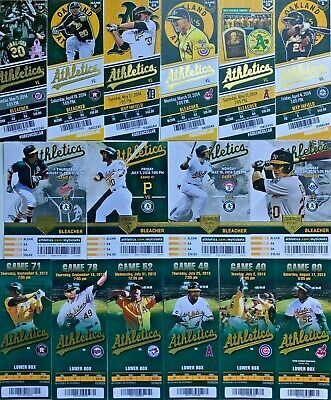 2011-2016 Oakland Athletics Season Ticket Stubs - Mint Condition! Free Shipping!