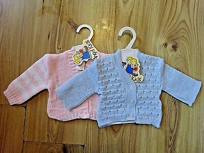 Baby Boy Blue Girl Knitted Cardigan Pink Candy Striped 0-3,3-6,6-9 Month Gift