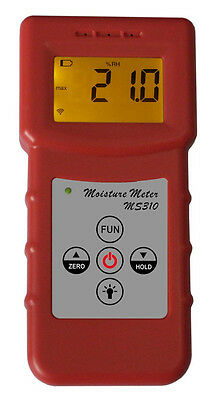 Digital Inductive Wood Moisture Meter tester Timber paper Carton concrete