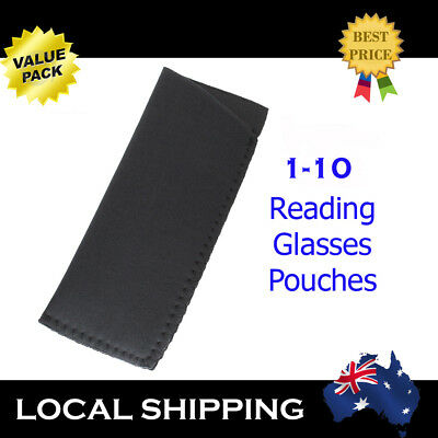 1 5 10 Reading Glasses Pouch Wet-suit Protective Light weight Carry Case Black