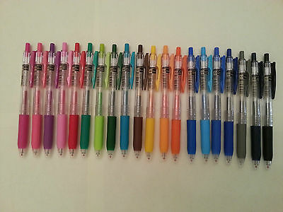 Zebra Sarasa Push Clip Gel Ink Pen - 0.3mm (choose 6 pens)