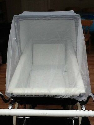 INSECT BUG NET 4 SILVER CROSS COACH PRAM kensington Carlton Grosvenor 36""