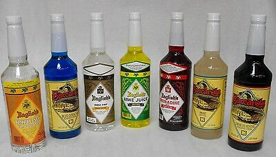 7x Essential BAR MIXERS COMBO Lime,Grenadine,Simple+MORE no bitters FEE SHIP!