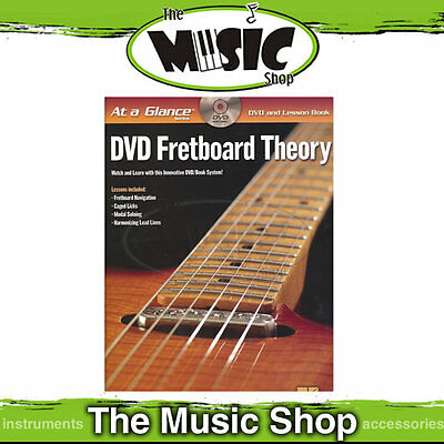 "New ""At A Glance DVD Fretboard Theory""  Book & DVD Pack - Lesson Book"