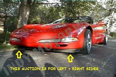 Corvette Front Spoiler Left And Right Air Dam Sides Sections C5 97-04 Ls1 Ls6