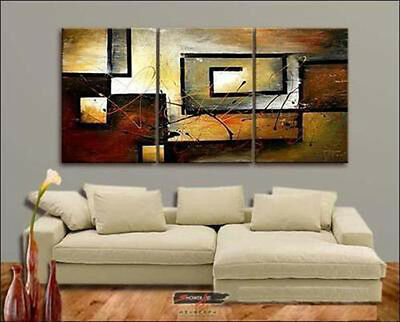 3PC SALE MODERN ABSTRACT HUGE WALL ART OIL PAINTING (no frame)