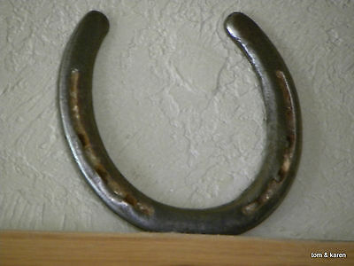 Authentic - Used ( Worn ) Texas Working Ranch Horse Horseshoe - The Lucky Type
