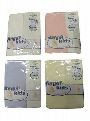 Fitted Crib Fitted Sheets 100% Cotton Pack Of 2 Baby Nursery Bedding