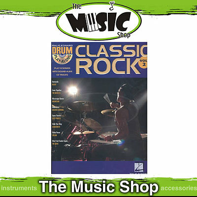 New Classic Rock Drum Play Along Book & CD Pack - Volume 2