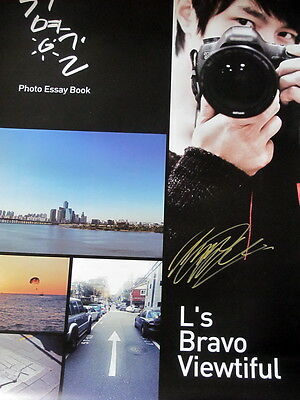 infinite L Kim Myung Soo Autographed L's Bravo Viewtiful Poster size 76*83 cm