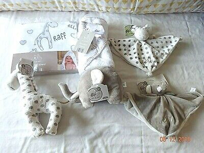 Baby Elli & Raff Buggy/Pram Cot Blanket,Comforter,Soft Toy Teether Ring Rattle