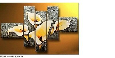 new Beautiful 5pc modern abstract huge wall art oil painting canvas (no frame)