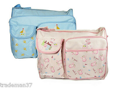 DB007 Baby Diaper Mommy Bag Nappy Tote Milk Bottle Bag Changing Pad 2 Choices