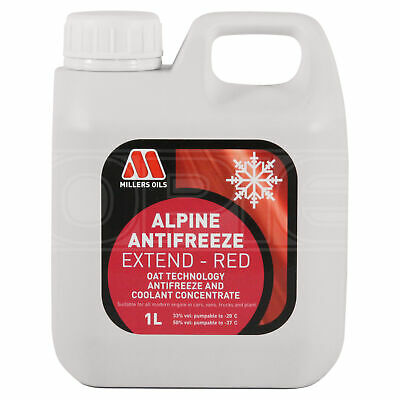 Millers Alpine Antifreeze Extend - Longlife Red Antifreeze / Coolant 1 Litre 1L