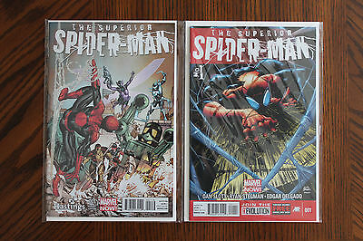 Superior Spider-Man Hastings #1 AND Superior Spiderman Regular #1 First Prints