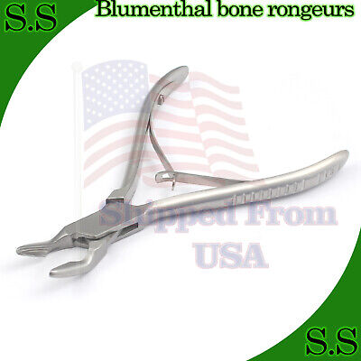 "1 Piece Of Blumenthal Bone Rongeur 45 Degree 4.5"" Surgical Dental Instruments"