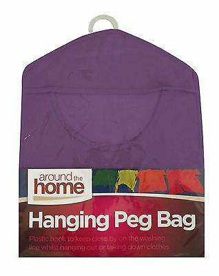Hanging Peg Bag Fabric Pegs Hanging Storage Bag Basket Clothes Line Washing New