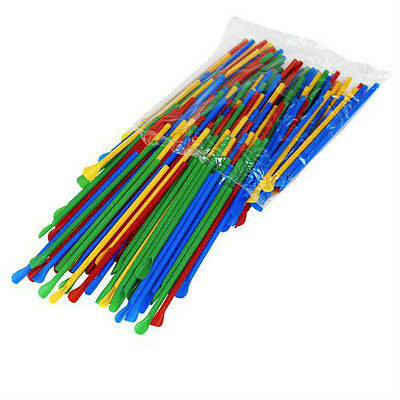 Snow Cone Spoon Straws - 200 count - unwrapped - colors