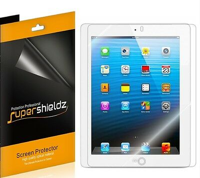 3X Ultra Clear SCREEN PROTECTOR Shield Guard Film for New iPad 2nd 3rd & 4th gen