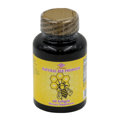 Nu- Health Natural Bee Propolis with lecithin zinc coconut oil  (60 Softgels)