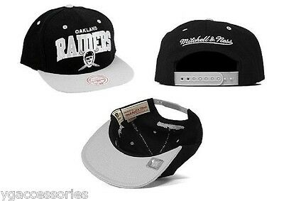 NFL Oakland Raiders Mitchell and Ness Vintage Arch 2 Tone Snapback Cap Hat  M N cce8bd702d1f