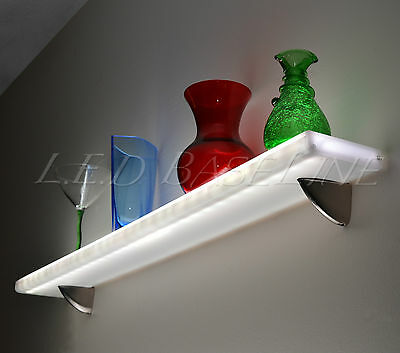 """24"""" Floating Wall  Shelf Display with Color Changing L.E.D. Lights"""