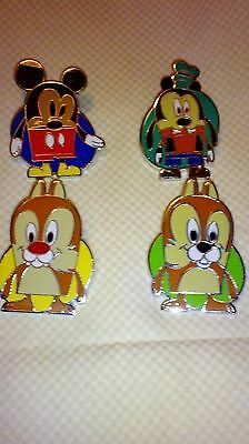 Disney Pins Limited Release Vinylmation Mystery Pin Collection - Popcorn 4 pins