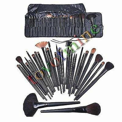 32 PCS Cosmetic Natural Leather Professional Eyebrow Shadow Makeup Brush Set