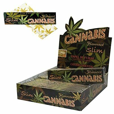 1/25 Cannabis Flavoured KingSize Rolling Papers 110mm Slim Hemp Flavoured Paper