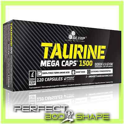 Olimp Taurine 1500mg MEGA CAPS SUPPORT CREATINE TRANSPORT AMINO ACID STRENGTH