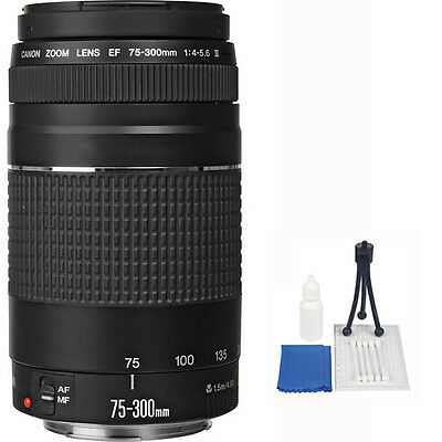Canon EF 75-300mm f/4-5.6 III Telephoto Zoom Lens for EOS Rebel 60D 50D 40D T5
