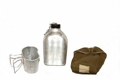 Army surplus aluminium water bottle canteen , mug,  cover,   pouch